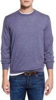 Brunello Cucinelli Fine-Gauge Crewneck Sweater, Purple