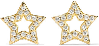 Shashi Open Star 18-karat Gold-plated Sterling Silver Crystal Earrings