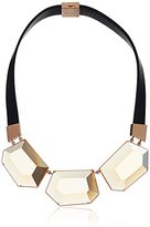 Fossil Octagon Stones Bib Necklace
