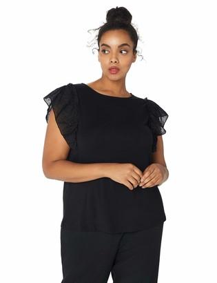 Anne Klein Women's Size Plus Flutter Sleeve Blouse