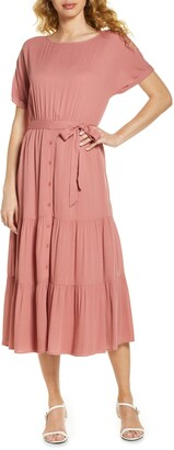 BB Dakota Crinkled Midi Dress