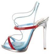 Christian Louboutin Aqua Ronda PVC Sandals