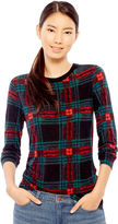 Joe Fresh Long-Sleeve Plaid T-Shirt