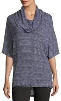Allen Allen Cowl-Neck Striped Top