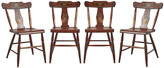 Rejuvenation Set of 4 Hand-Painted Chairs from Hindeloopen Netherlands