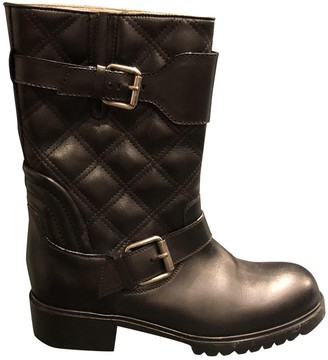 Marc Jacobs Black Leather Ankle boots