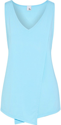 Iris & Ink Draped Stretch-jersey Tank