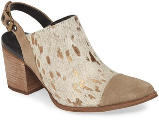 Chocolat Blu Anita Genuine Calf Hair Slingback Bootie