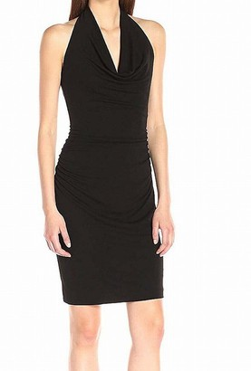 Nicole Miller Women's Stretchy Matte Jersey Cowl Dress