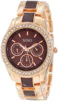 XOXO Women's XO5583 Rhinestones Accent Rosegold Bracelet Watch