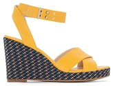 La Redoute Collections Graphic Print Wedge Sandals