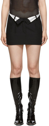 Alexander Wang Black Wool Flipped Waistband Skirt