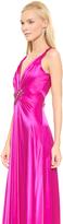 Temperley London Long Mounia V Neck Dress