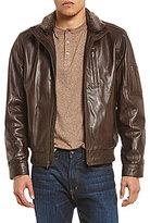 Daniel Cremieux Leather Full-Zip Bomber Jacket