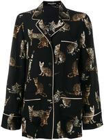 Dolce & Gabbana Bengal Cat print pyjama top