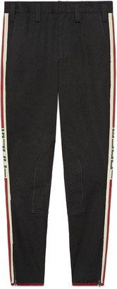 Gucci Gabardine stretch pant with stripe