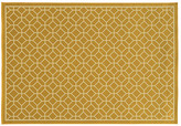 """7'10"""" Round Romers Outdoor Rug, Gold"""