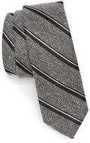 The Tie Bar Stripe Nep Silk Tie