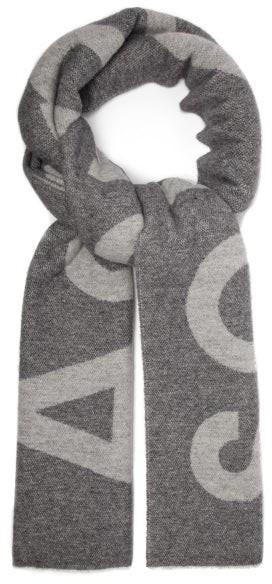 Acne Studios Toronty Wool-blend Scarf - Mens - Black
