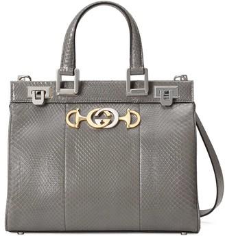Gucci Zumi snakeskin small top handle bag