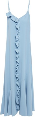 Hofmann Copenhagen Rosine Ruffle-trimmed Fluted Crepe Midi Dress