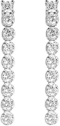"""Diamonique 1.25 cttw 1"""" Dangle Earrings, Sterling Silver"""