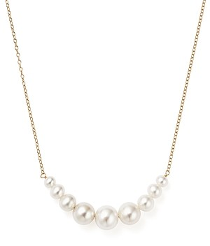 Bloomingdale's 14K Yellow Gold Cultured Freshwater Pearl Necklace, 18