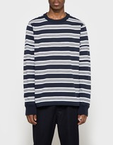 Sacai Pullover in Navy/White