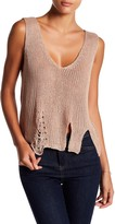 Cotton Emporium Distressed Sweater Tank