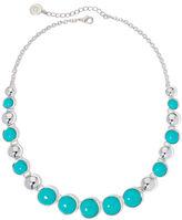 Liz Claiborne Aqua Stone Silver-Tone Collar Necklace