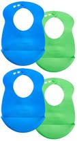 Tommee Tippee Green & Blue Easi-Roll Bib - Set of Four