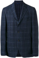 Etro checked blazer - men - Silk/Linen/Flax/Cupro - 50