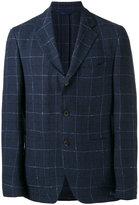 Etro checked blazer - men - Silk/Linen/Flax/Cupro - 50