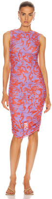 Miaou The Suz Dress in Hawaiian Lavender Red | FWRD