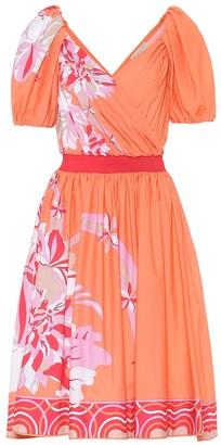Emilio Pucci Floral stretch-cotton dress