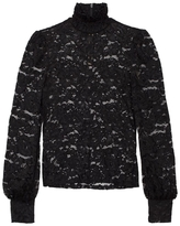 L'Agence Samara Lace High Neck Top