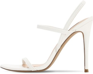 Steve Madden 120MM ELASTIC FAUX LEATHER SANDALS