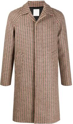 Sandro Paris Check Single-Breasted Coat