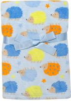 Cutie Pie Baby Light Blue Hedgehog Velboa Stroller Blanket