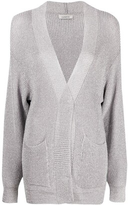 Laneus Metallic-Thread Knitted Cardigan