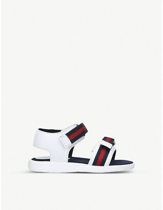 Gucci Gauffrette leather sandals 6 months-5 years