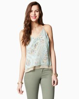 Charming charlie Paisley Double Layer Tank