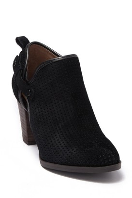 Franco Sarto Dale 2 Perforated Suede Ankle Bootie