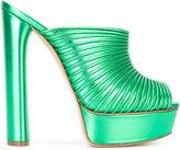 Casadei open toe platform mules - women - Leather/Kid Leather - 35