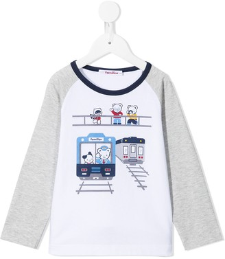 Familiar Raglan-Sleeve Cotton T-Shirt