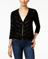 Charter Club Cashmere Chevron Sequined Cardigan, Only at Macy's