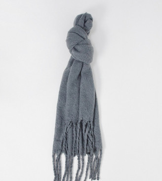 My Accessories London Exclusive super soft scarf with tassels in grey