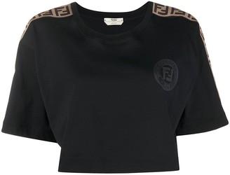 Fendi FF stripe cropped T-shirt