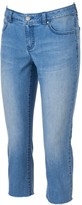 JLO by Jennifer Lopez Women's Frayed Capri Jeans