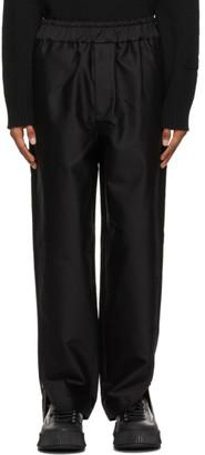 Jil Sander Black Cotton Satin Trousers